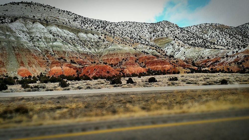 On the I-70 freeway in Utah