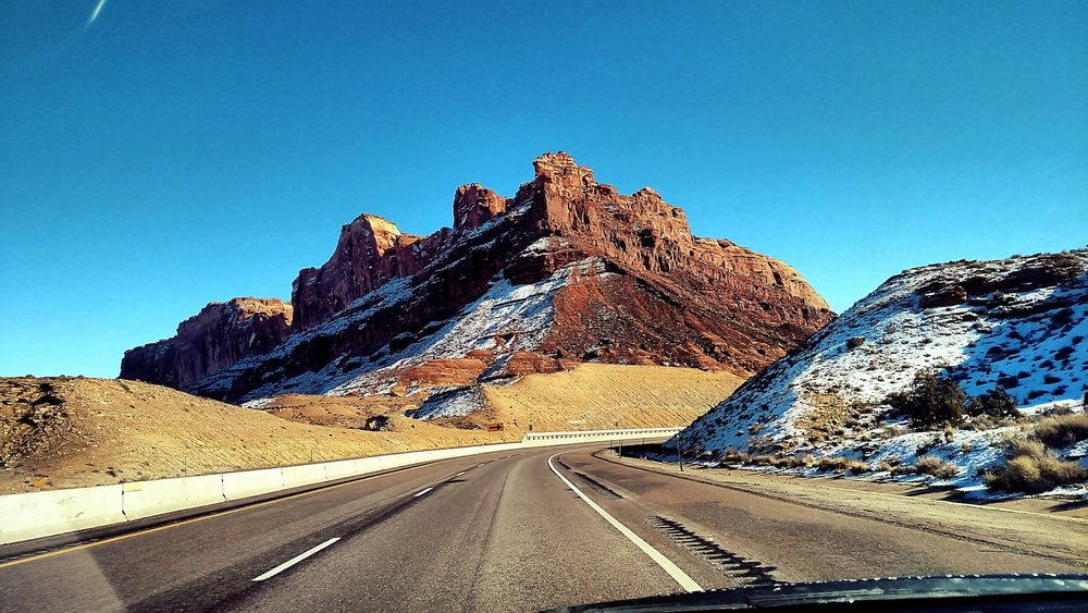 On the I-70 freeway in Colorado