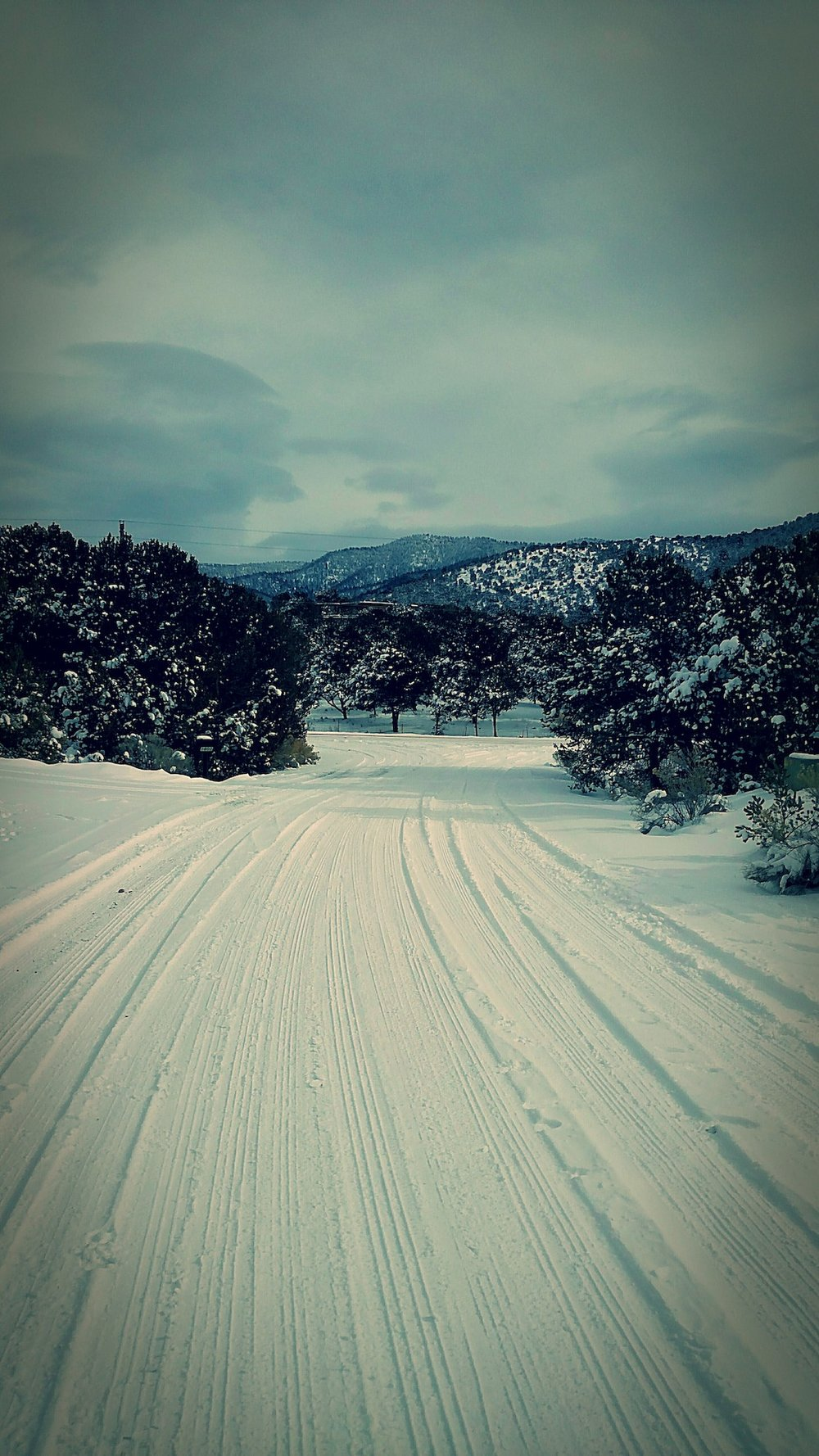 Canyon Road (or thereabouts) in Santa Fe, New Mexico