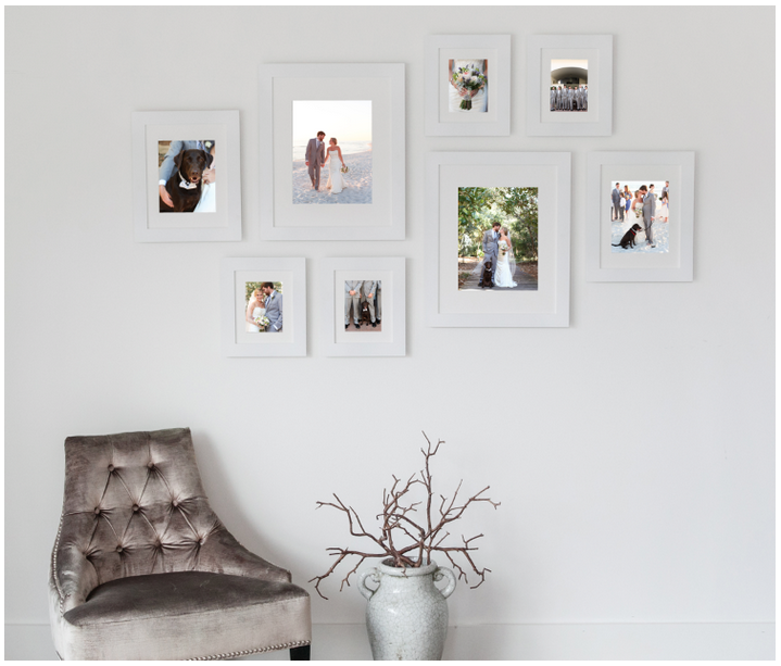 sizes include 2 20x24 frames with 16x20 mat openings 2 16x20 frames with 11x14 mat openings