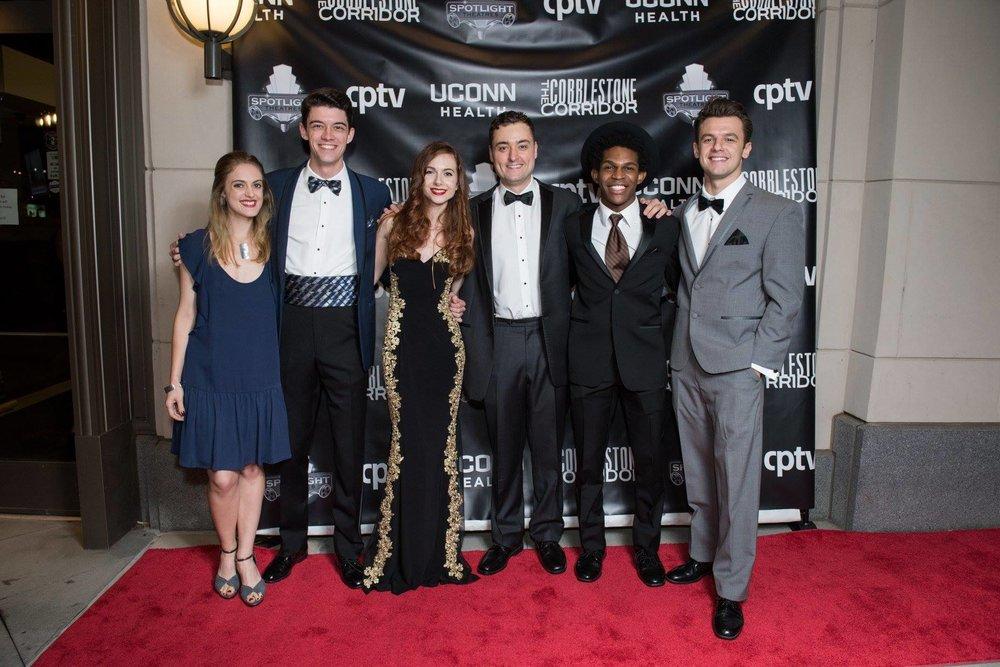 The staff of the Pierce Gazette! (L-R): Amelia Dudley, Taylor Turner, Danielle Bonanno, Erik Bloomquist, Camrus Johnson, & Ehad Berisha.