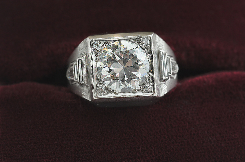 2bfd5d6db474b3 Al Capone's Diamond Pinky Ring — The Capone Collection