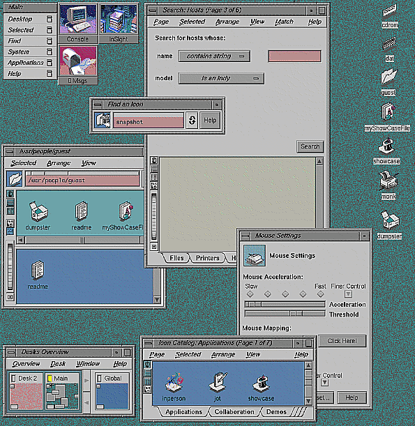 Figure 1: Indigo Magic Desktop.