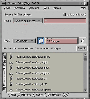 Figure 3: Search tool.