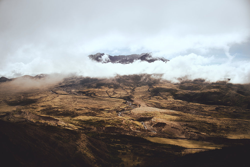 Mount St. Helens. The clouds refused to lift that day