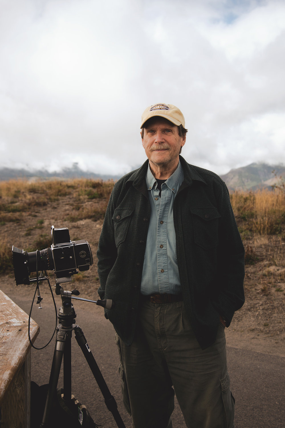 Met this veteran photographer with his digitially converted medium format camera at Mount St. Helens