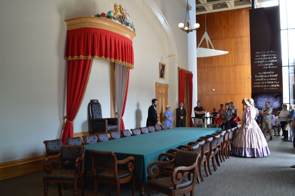 Replica Province House Chamber in the Confederation Centre.