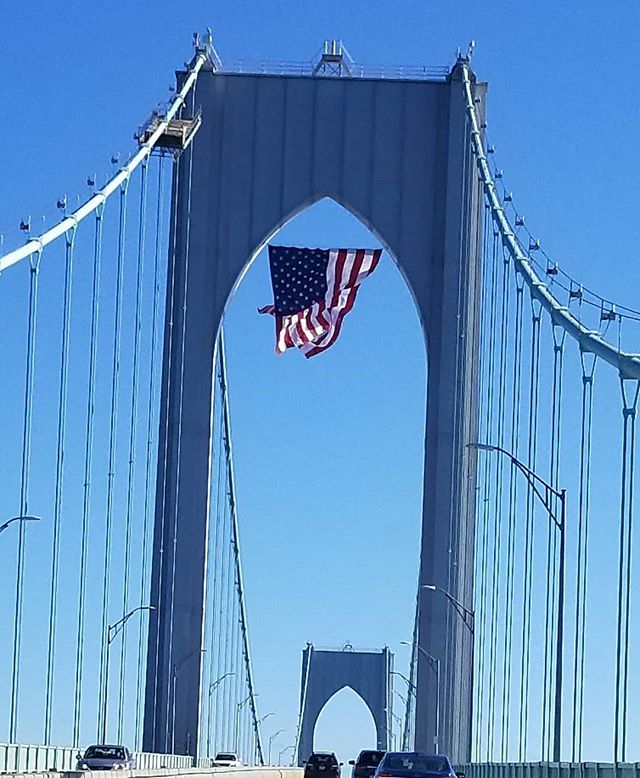 Happy Veterans Day from the Newport Bridge in Rhode Island!  #landofthefreebecauseofthebrave #thankyouvets