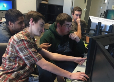 Engineering Design Class students learn to collaborate and work together.