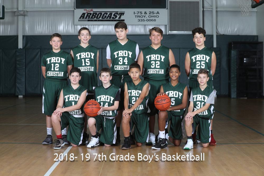 2017-18 7th Grade Boy's Basketball