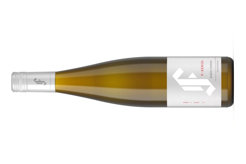 F-SERIES GEWURZTRAMINER | F-シーリズ  ゲウュルトラミネール   マールボロワイラウヴァレー   ¥  5,350 , 2018, 750ml , 13% , RS 42  RC 19/20  Brilliant, even, light golden-yellow colour with some depth, lighter on the rim. The nose is voluminous with concentrated and layered aromas of rich, ripe exotic tropical fruit, honey and apricots, with Turkish Delight notes that unfold and build in depth and density. Sweet to taste and medium-bodied, the palate has gently rich and luscious flavours of ripe tropical fruits entwined with exotic florals and apricots, honey and Turkish Delight.   The flavours fill the palate from its rich, rounded core, the wine near unctuous in texture. The acidity is soft, adding to the rich mouthfeel, and the wine carries with some underlying power to a long and sustained, opulent finish. This is a rich and luscious, sweet Gewurztraminer with ripe tropical fruit, exotic florals, honey and Turkish Delight on an unctuous palate.  FOOD   Match with Middle Eastern and Asian cuisine over the next 3-4 years.   TECH  Hand-picked fruit from the back of the winery, WBP and indigenous yeast fermented, 55% in seasoned oak and 45% in acacia wood to 13.0% alc. and 42 g/L RS, the wine aged 6 months on lees. 19.0/20 Nov 2018 RRP $34.99