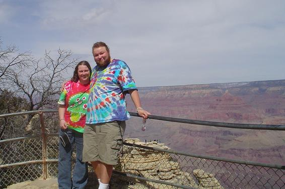 Amanda and Erik  at the Grand Canyon, March 2006.