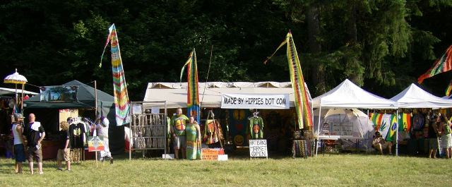The Hippies vending at the   North West World Reggae Festival  ,   August 2008.