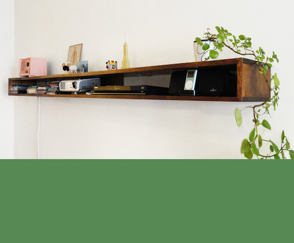 DESIGN & CONSTRUCTION OF WALL SHELF