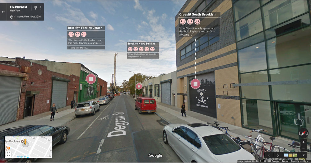 Degraw street view with a Community Preservation Layer on