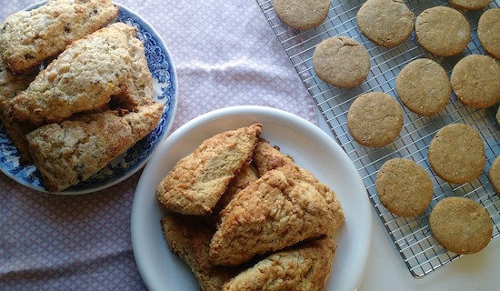 Those are the cookies on the right - the scone recipes will follow.