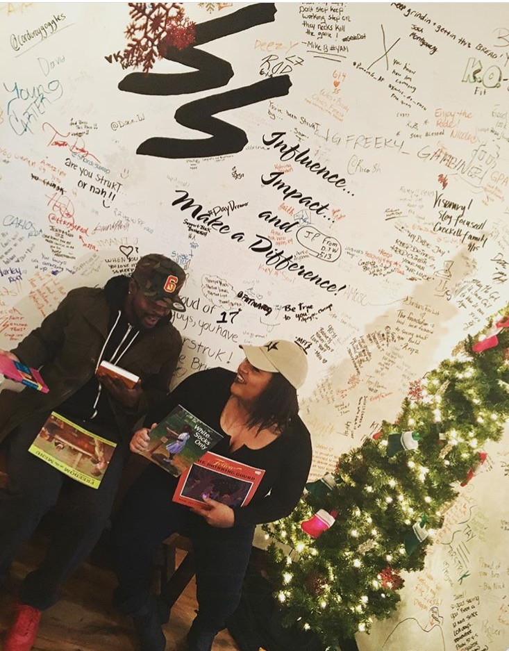Brandon Mitchell, Founder of S.T.A.R.S. and Brianna Betts, Founder of The Brianna Marie Blog partnered with StarStrukT in Columbus, Ohio to offer retail shoppers discounts for donating culturally relevant school-aged books.