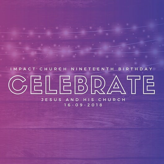 Impact Church.is gonna be 19! Now that's worth celebrating! Join us as we celebrate Jesus and all he has done for us. 10am Sunday September 16th. Love to see you there 😊🎉 #jesus #tellsomebody #findliftlove #birthday