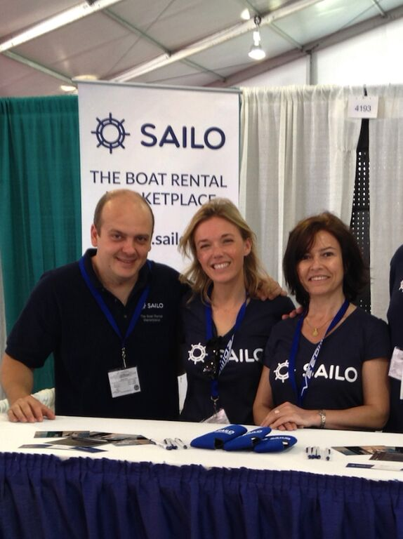 Three of the four Sailo founders (L-R): Adrian Gradinaru; Delphine Braas; Magda Marcu