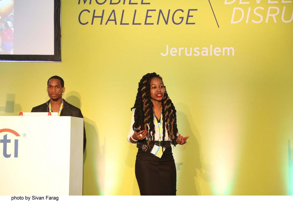 Christine Souffrant pitching in Jerusalem at the Citi Mobile Challenge