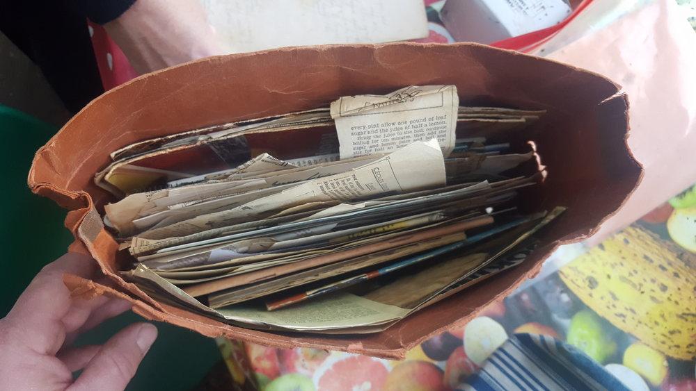 Her recipe folder ...
