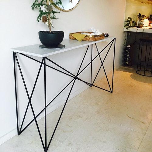 Italian Marble Criss Cross Console Table Modcraft Australia