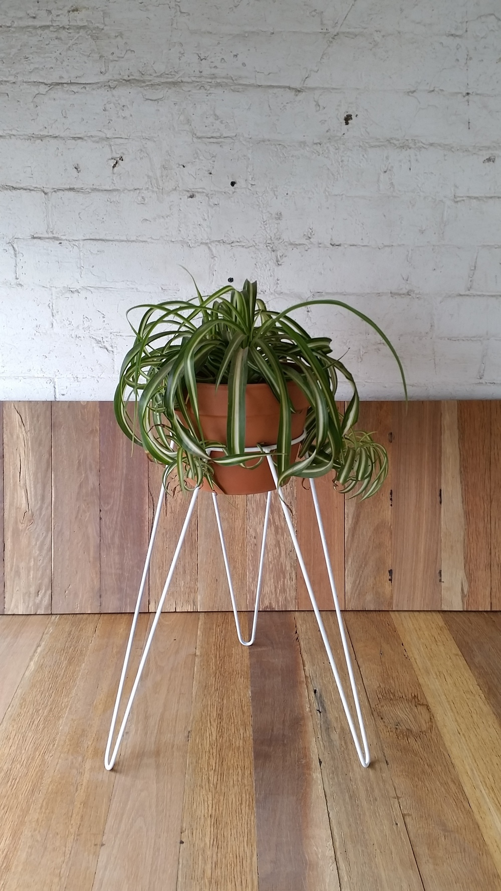 metal wire plant stand hairpin leg inspired