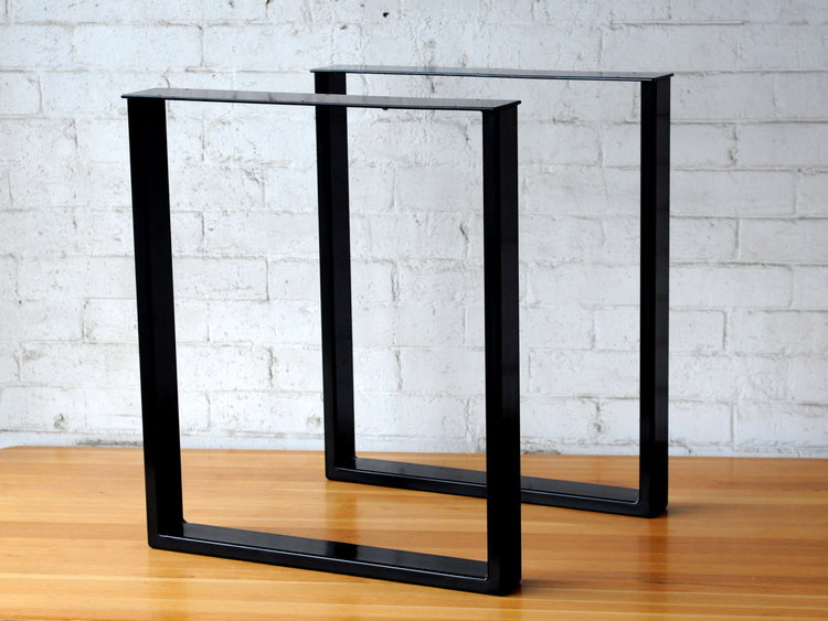 Rectangular Metal Table Legs Pair Modcraft Australia Metal