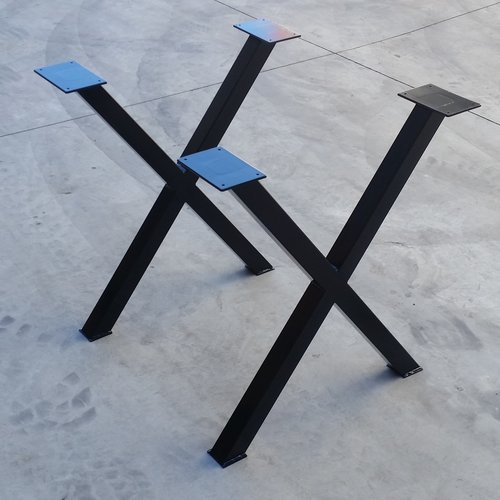 X Shaped Table Legs Pair Of Two Modcraft Australia Metal Table