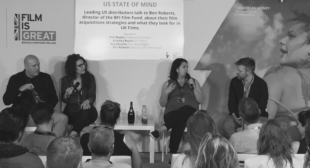 Panel discussion with Ray Strache, Dori Begley, Arianna Bocco and director of the BFI Film Fund Ben Roberts