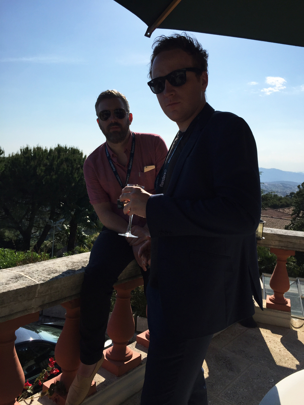 M J McMahon and Matthew Jones at the Molinare villa