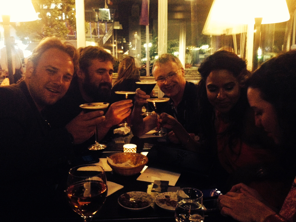 Drinks with David Whitney, Brian A. Hoffman, Dave Morrison and Nadia Lachman