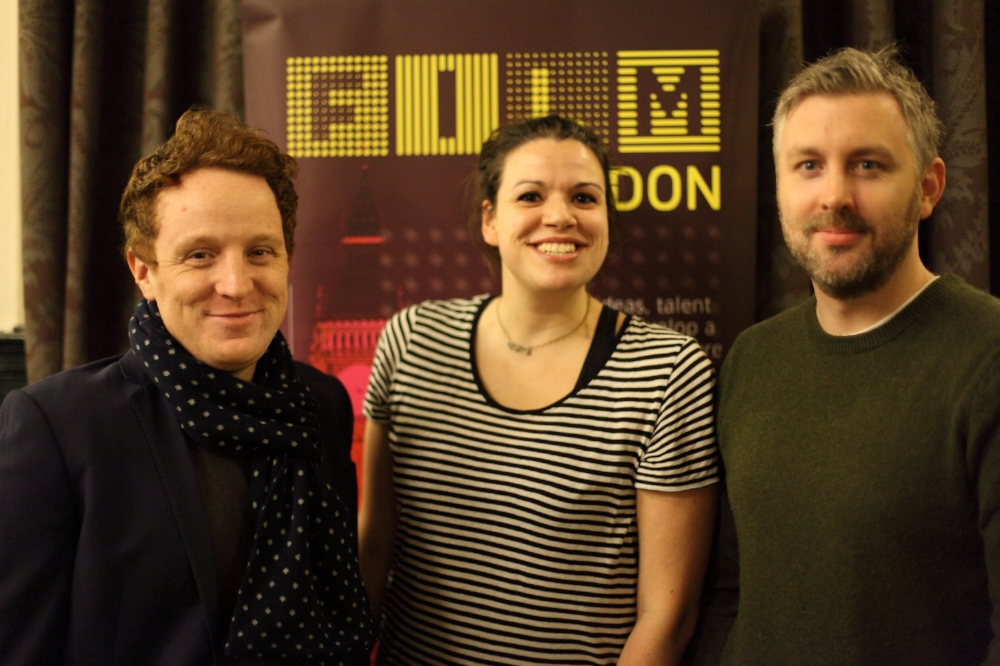 Producers Matthew Jones and M J McMahon with writer/director Natalie Malla