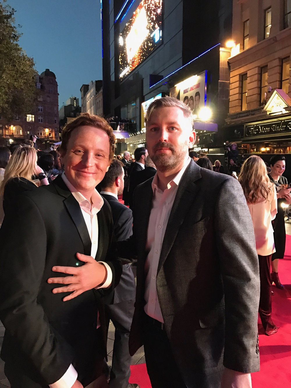 Director Matthew Jones and producer M J McMahon