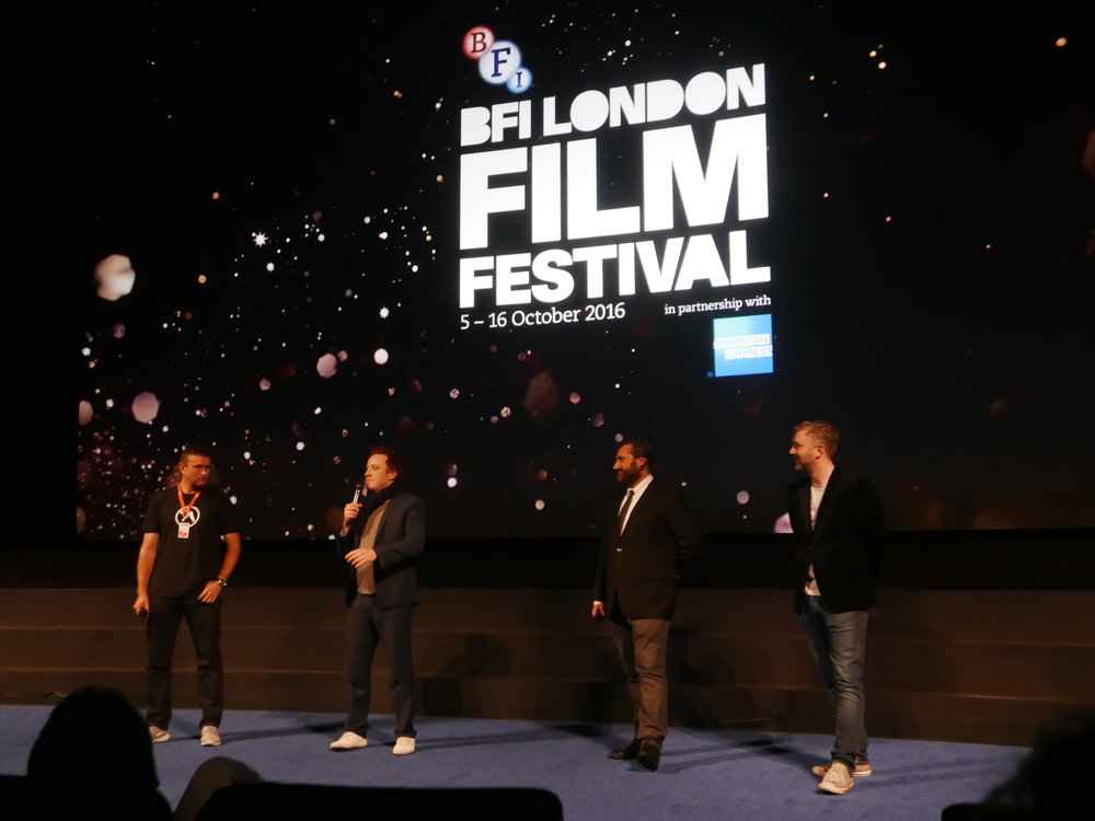BFI Head Programmer Stuart Brown, director Matthew Jones and producers Brian A. Hoffman and M J McMahon, photography by Lord Anthony