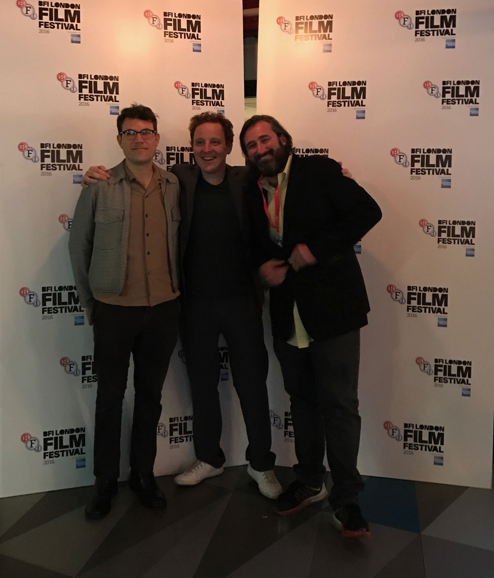 Editor Alec Rossiter with director Matthew Jones and producer Brian A. Hoffman