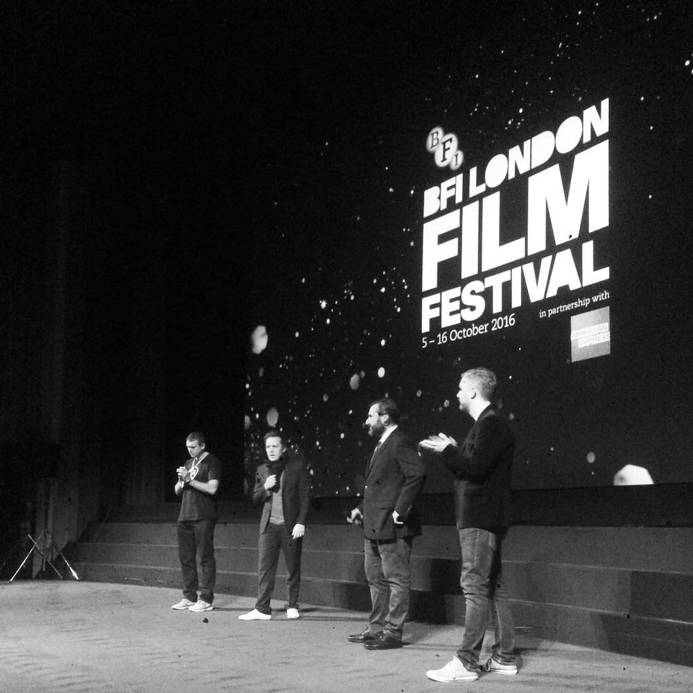 BFI Head Programmer Staurt Brown, director Matthew Jones and producers Brian A. Hoffman and M J McMahon