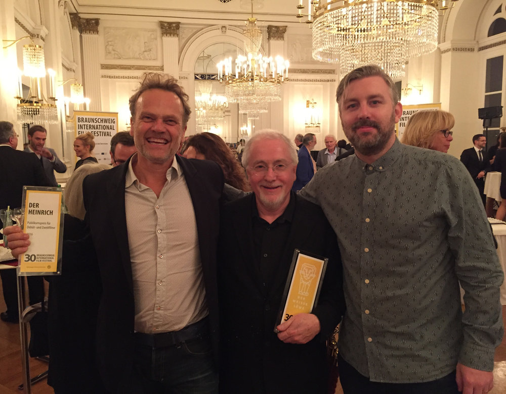 Actor Reinout Bussemaker, composer Patrick Doyle and producer M J McMahon