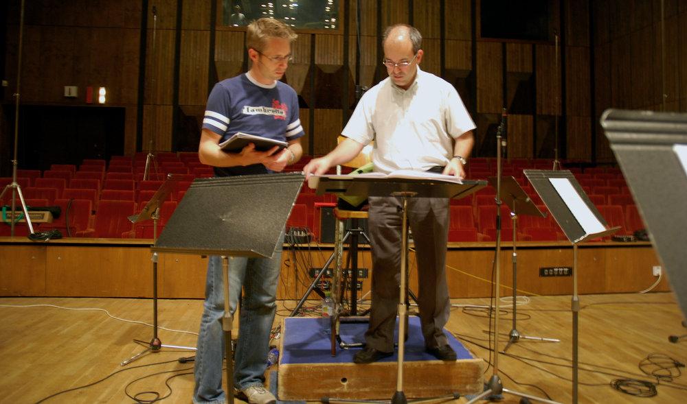 Hawk Composer, Stuart Hancock, and The Bratislava Symphony Orchestra Conductor, David Hernado