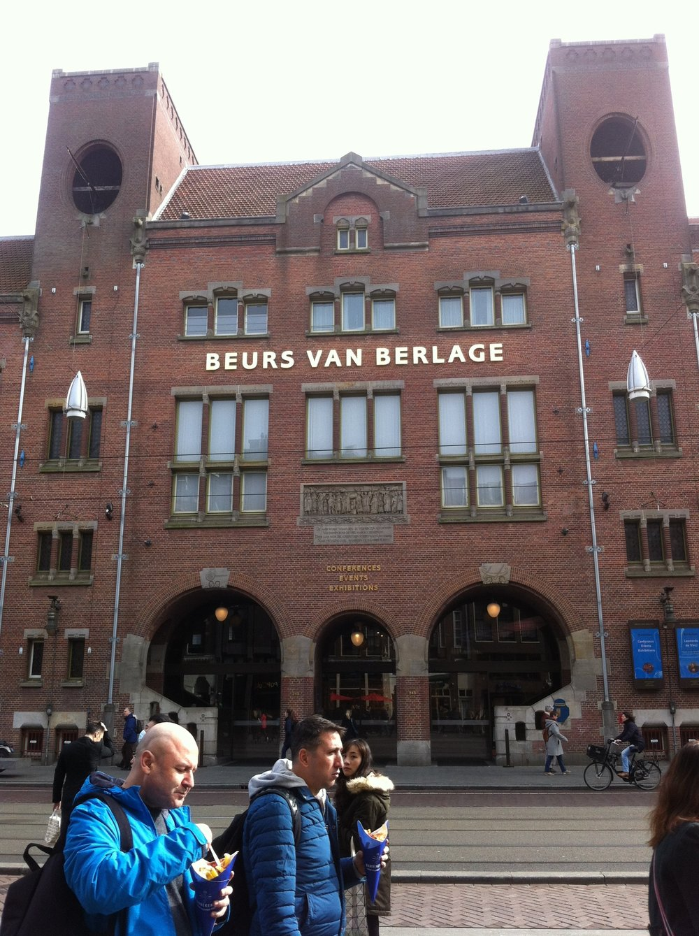 Beurs Van Berlage - the inredible venue for the conference which was originally the Amsterdam stock exchange.