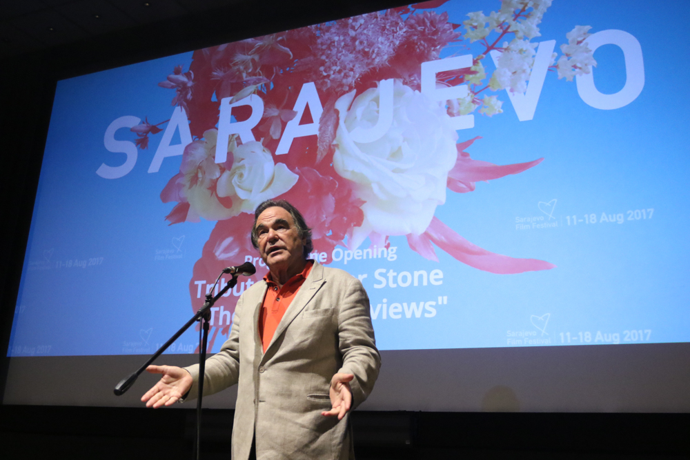 Director Oliver Stone, winner of the Honorary Heart of Sarajevo