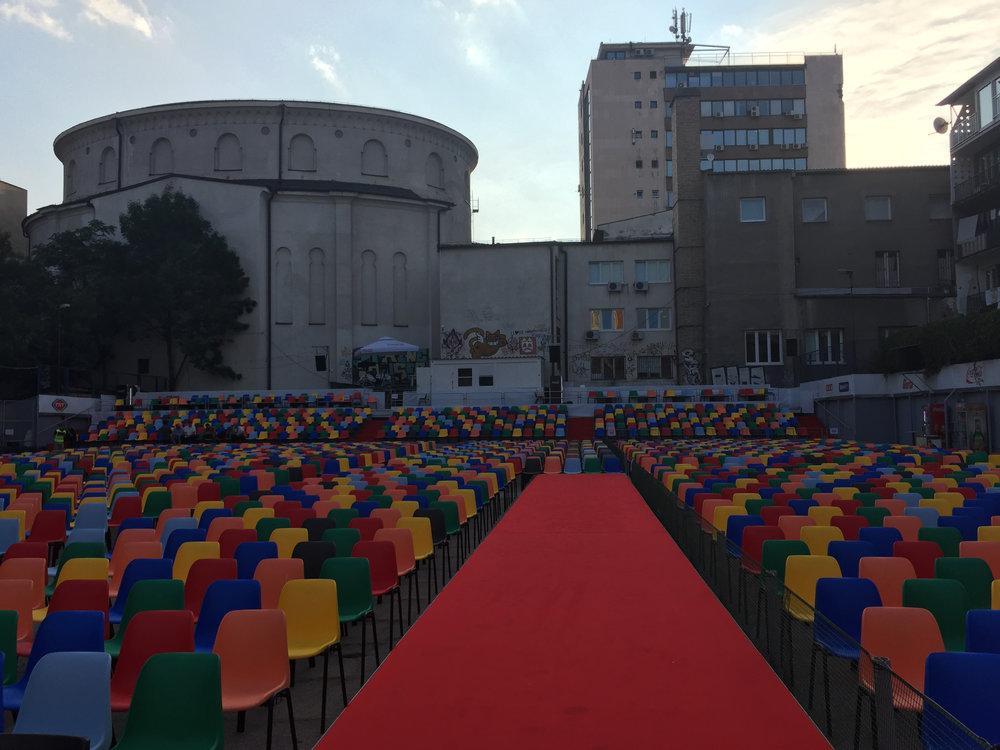 The open air cinema
