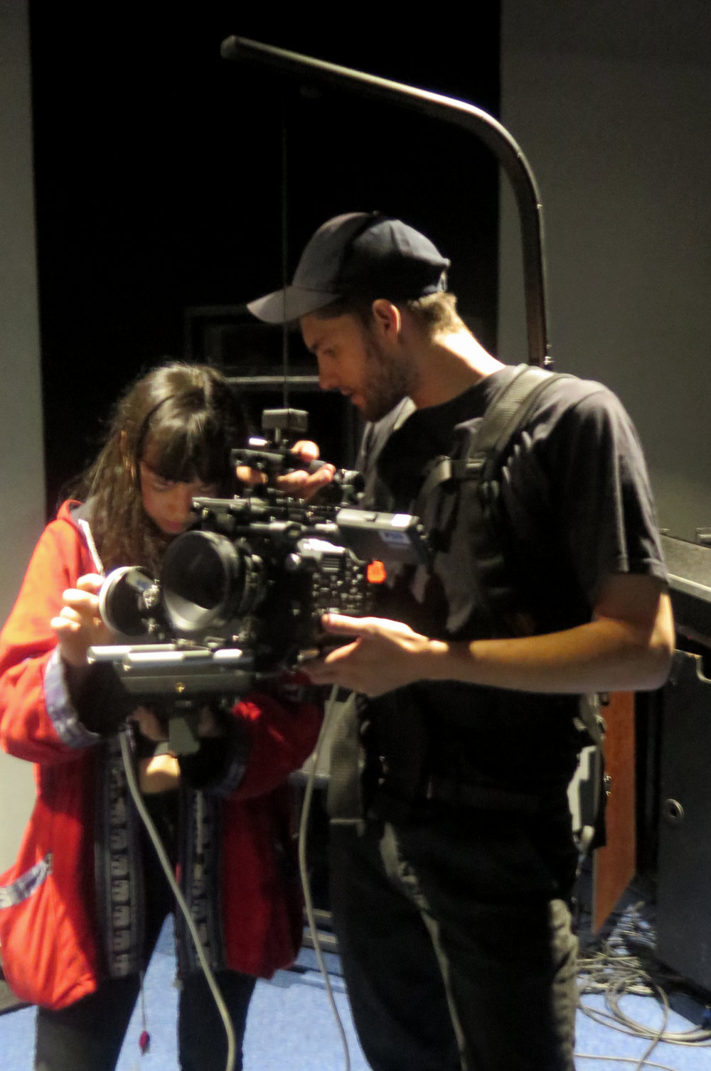 Our Director of Photography Jack Hamilton setting up with 1st A.C Cadhla Kennedy