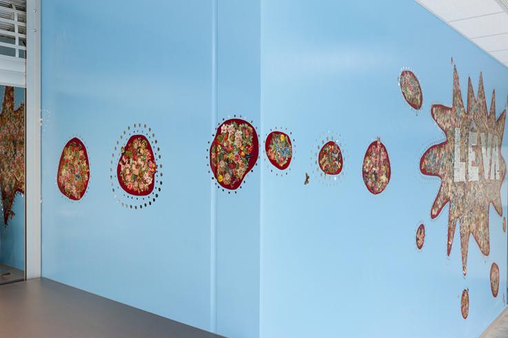 Leva ,wall based mosaic, 7,20 x 2,70 cm