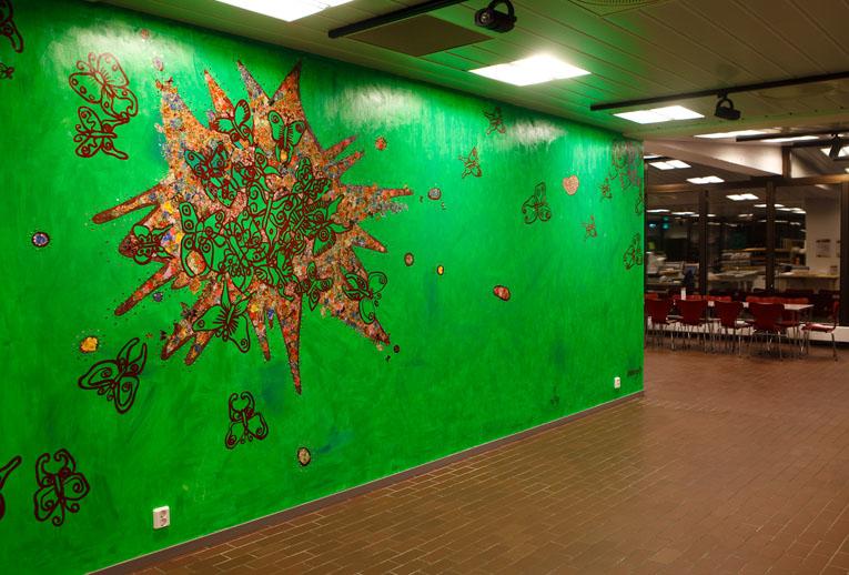 Wall based mosaic 300 x 600 cm