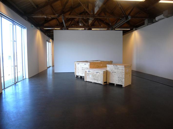 7.4416365m3  (2011), crates, ink.
