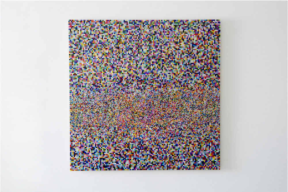 Mosaic Study III (continued)  2017 Mosaic, MDF 122x122cm  Photo: Jan Inge Haga