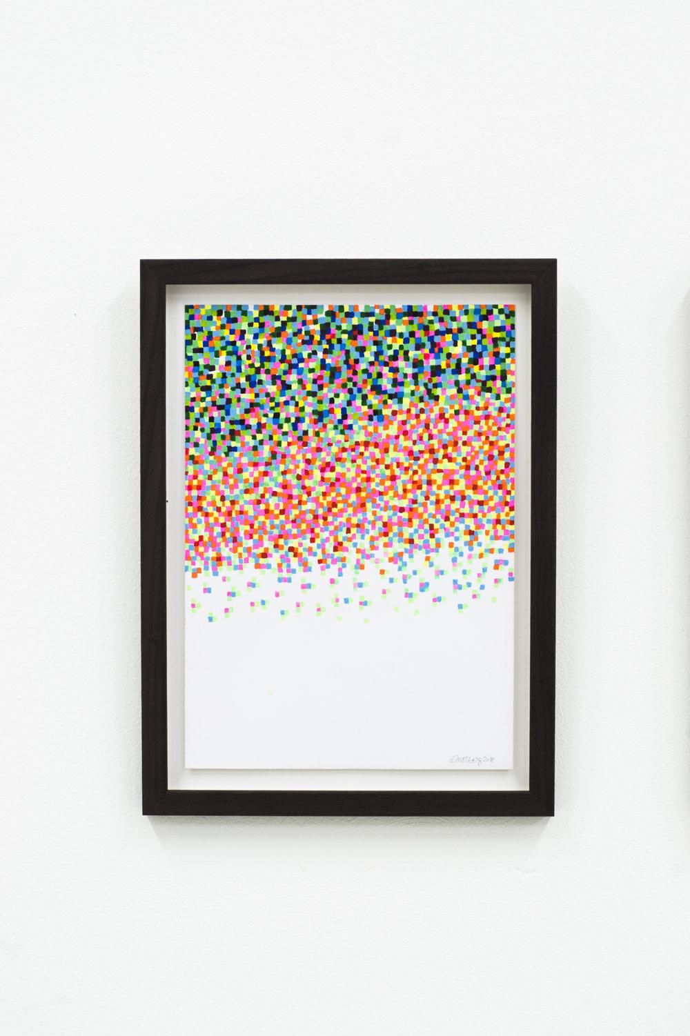 Mosaic drawings (2018)  35 x 26,2cm  Photo: Jan Inge Haga