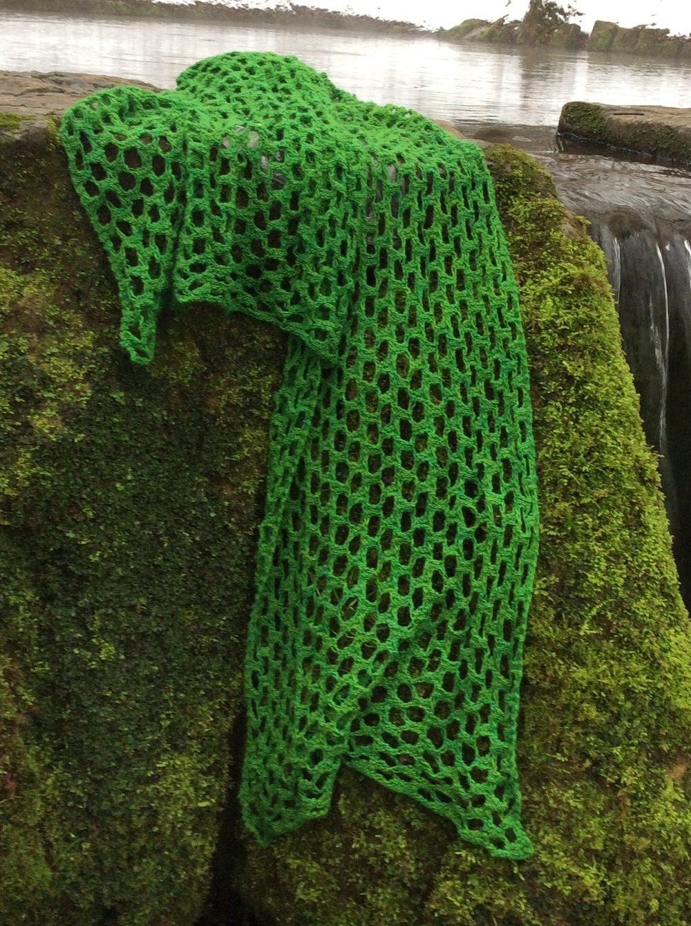Xylem shawl pattern from Recycle Knits 1