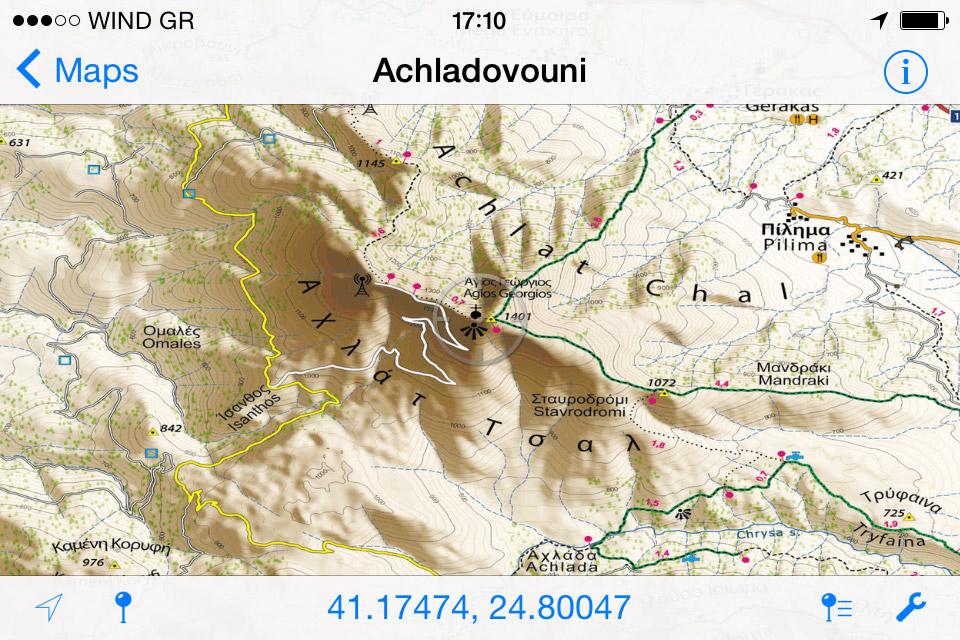 Achladovouni//Αχλαδοβούνι - [[Scale 1:30.000///Κλίμακα 1:30.000]]